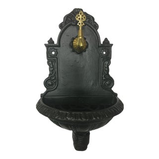 Vintage Cast Iron Fountain For Sale