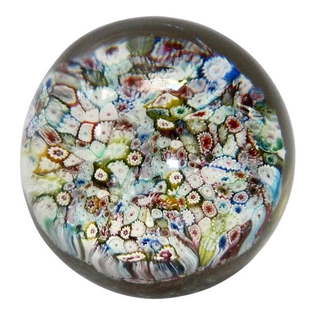 Italian Murano Glass Millefiori Paperweight For Sale