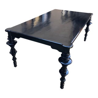 Mediterranean Noir Ferret Dining Table For Sale