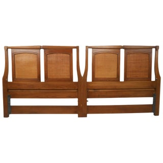 Mid-Century Modern Walnut Headboard by White Furniture Co For Sale
