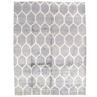 Pasargad Modern Bamboo Silk Hand-Knotted Area Rug - 9′1″ × 11′10″ For Sale