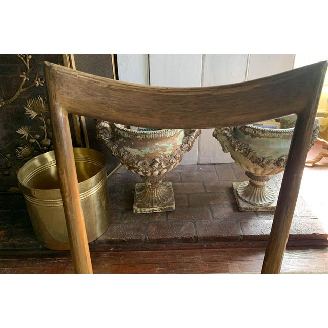 Tan Pair, Mid Century Chairs With Rope Seats For Sale - Image 8 of 12