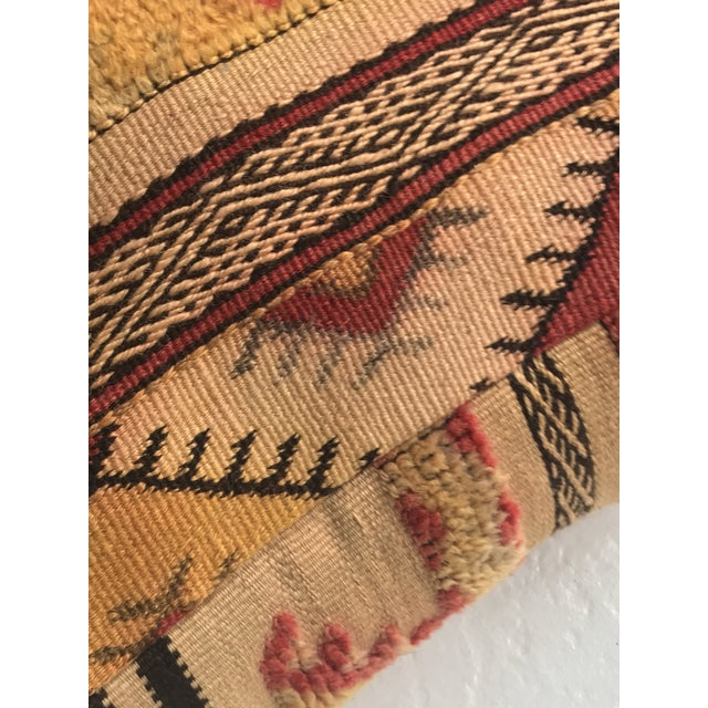 Moroccan Vintage Wool Pouf - Image 5 of 11