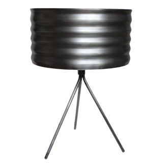 Dark Gray Steel Lamp For Sale