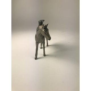 Vintage Pewter Equestrian Horse Table Lighter Preview