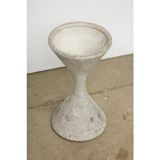 1960s Vintage Willy Guhl Cement Hourglass Planter For Sale In New York - Image 6 of 8