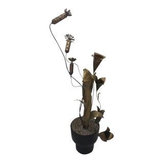 Curtis Jeré Brutalist Plant Sculpture For Sale