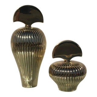 Pair of Brass Decorative Perfume Bottles