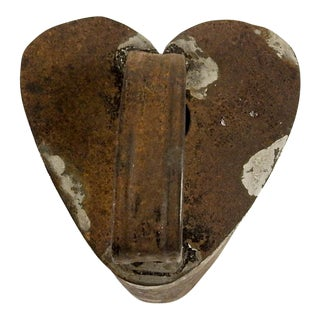 Antique Heart Shape Tin Cookie Cutter For Sale