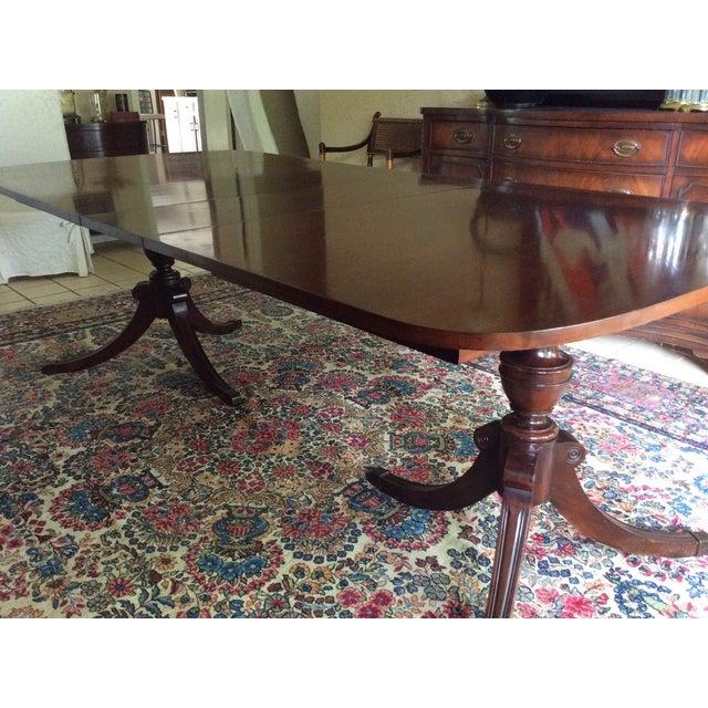 Duncan Phyfe Mahogany Dining Table - Image 2 of 6