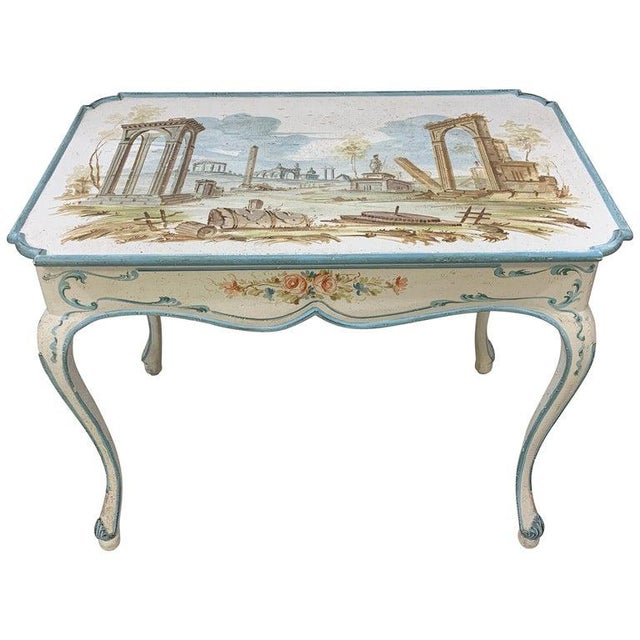Venetian Painted Table or Desk For Sale - Image 11 of 11