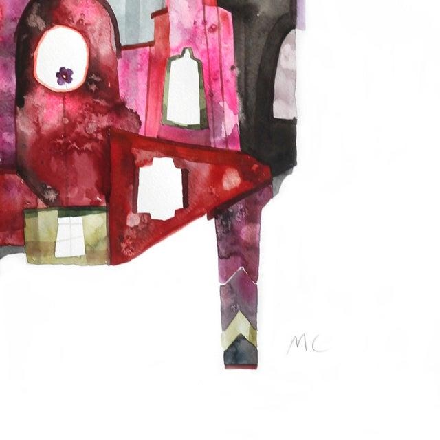 "2010s Maria C Bernhardsson ""House of Magenta"" Original Painting For Sale - Image 5 of 5"