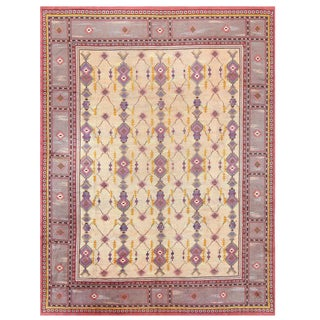 Vintage Scandinavian Carpet - 9′6″ × 12′ For Sale