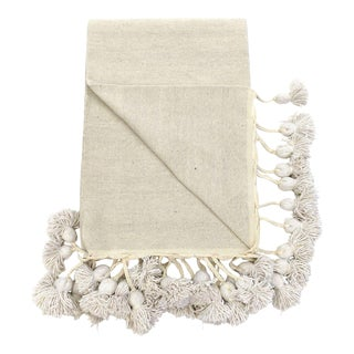 Moroccan Braided Tassel Cotton Blanket For Sale