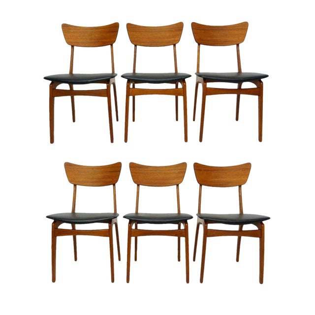 Svend Madsen for Sigurd Hansen Model 60 Dining Chairs - Set of 6 For Sale