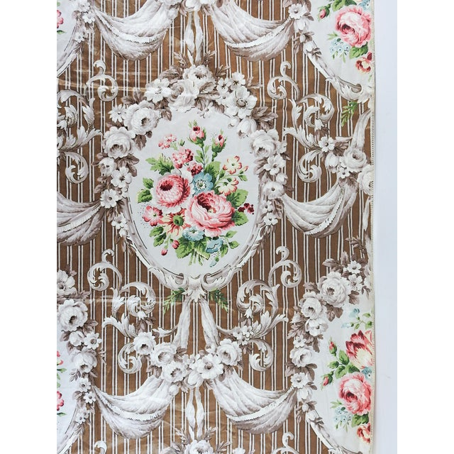 Vintage Schumacher Halworth Floral Toile Chintz Fabric Sample For Sale - Image 4 of 4