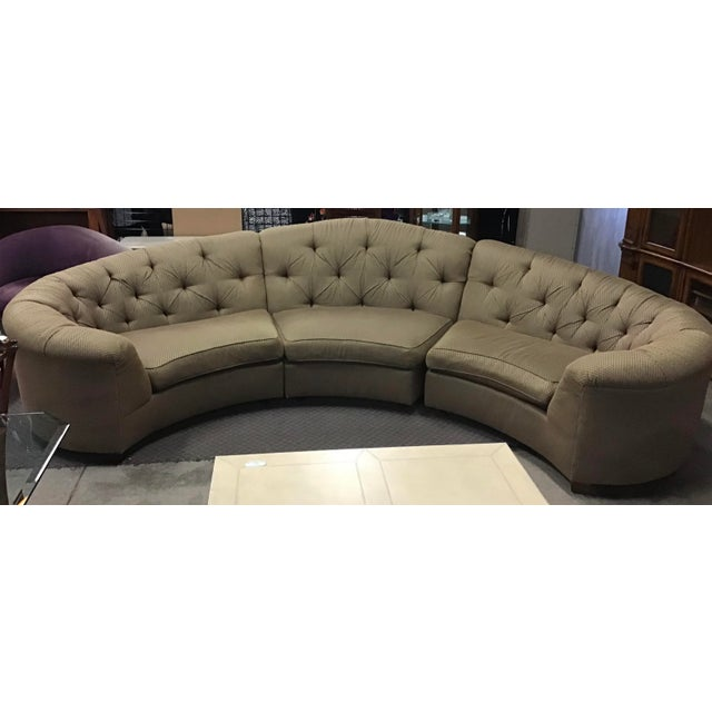 Vincente Wolf Modern Crescent Sectional Sofa 3 Pcs For Sale In Cleveland - Image 6 of 11
