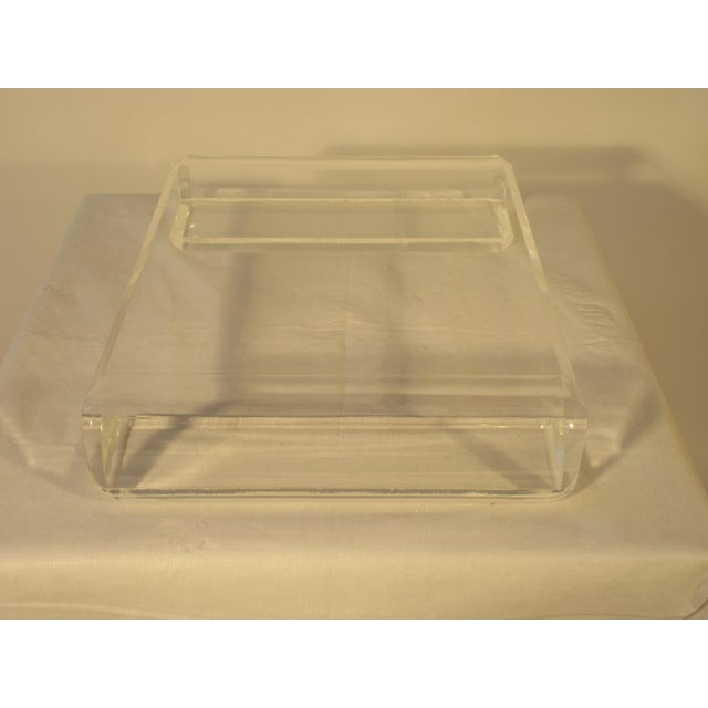 Plastic 1970s Lucite Base For Sale - Image 7 of 9