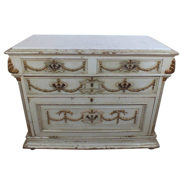 19th C. French Painted Chest of Drawers - Image 1 of 10