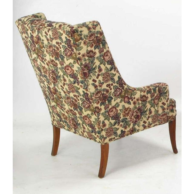 Pair Low-Arm Wing Chairs In Grosfeld House Manner - Image 5 of 9