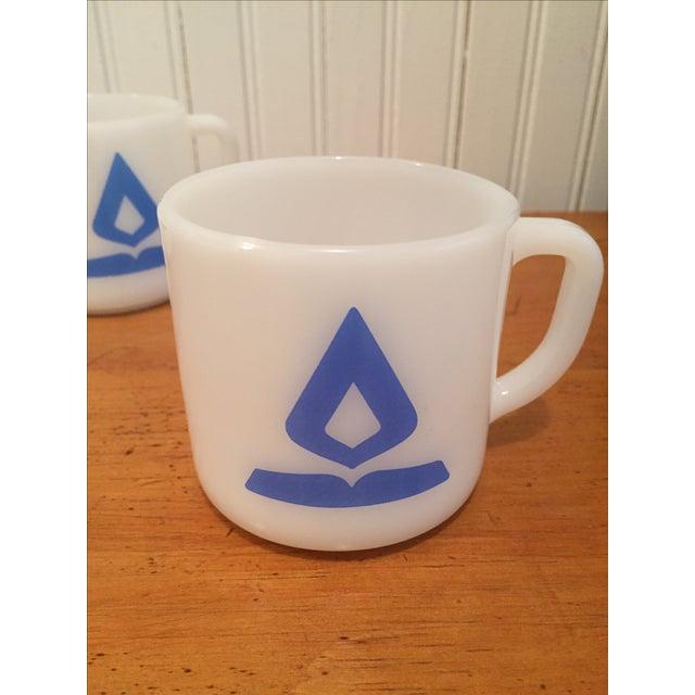 Vintage Fire King Milk Glass Mugs - Set of 4 - Image 4 of 6