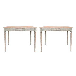 20th Century French Tall Carved Side Tables - a Pair For Sale
