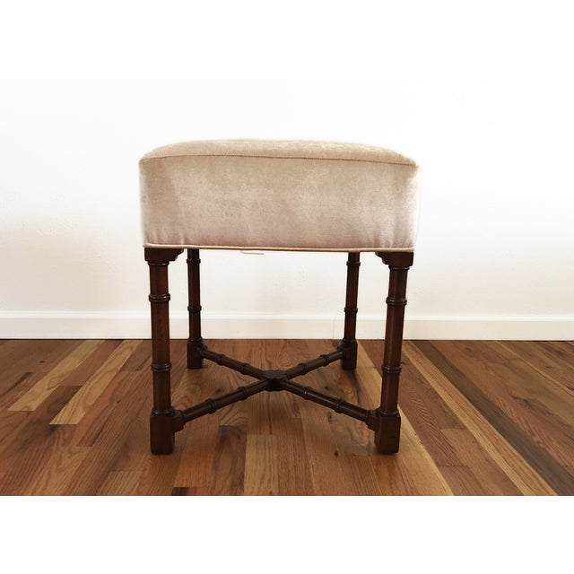 Hickory Chair Co. Upholstered Bench - Image 6 of 6