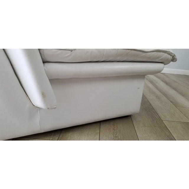 Nicoletti Salotti Postmodern Italian Leather Sofa , Circa 1980's . For Sale - Image 10 of 13
