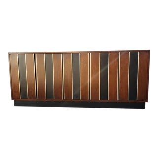 1960s Mid Century Modern Reversible Slat Credenza For Sale