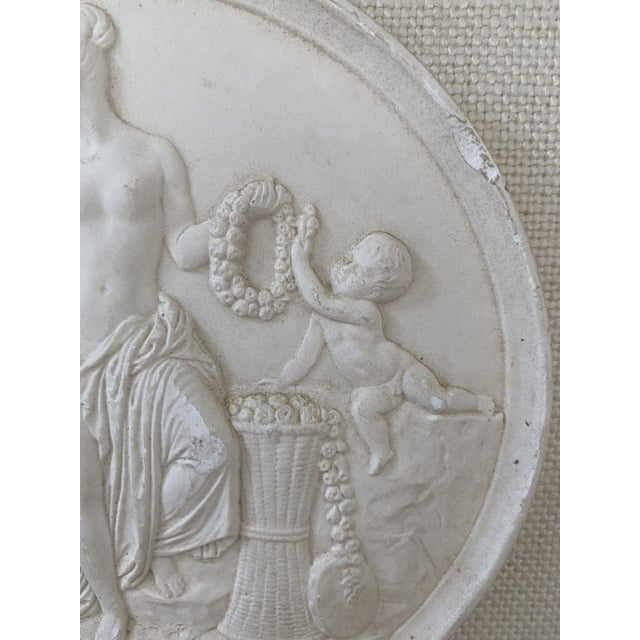 Late 19th Century Antique Plaster Intaglio Plaque Framed in Antique Walnut and Gilt Frames - a Pair For Sale - Image 5 of 13