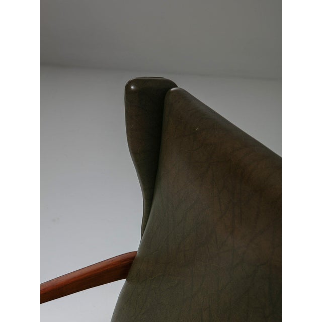 Animal Skin Set of Two Bergères With Footrest For Sale - Image 7 of 11