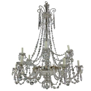A Fine English Cut Glass Chandelier By Perry&Co