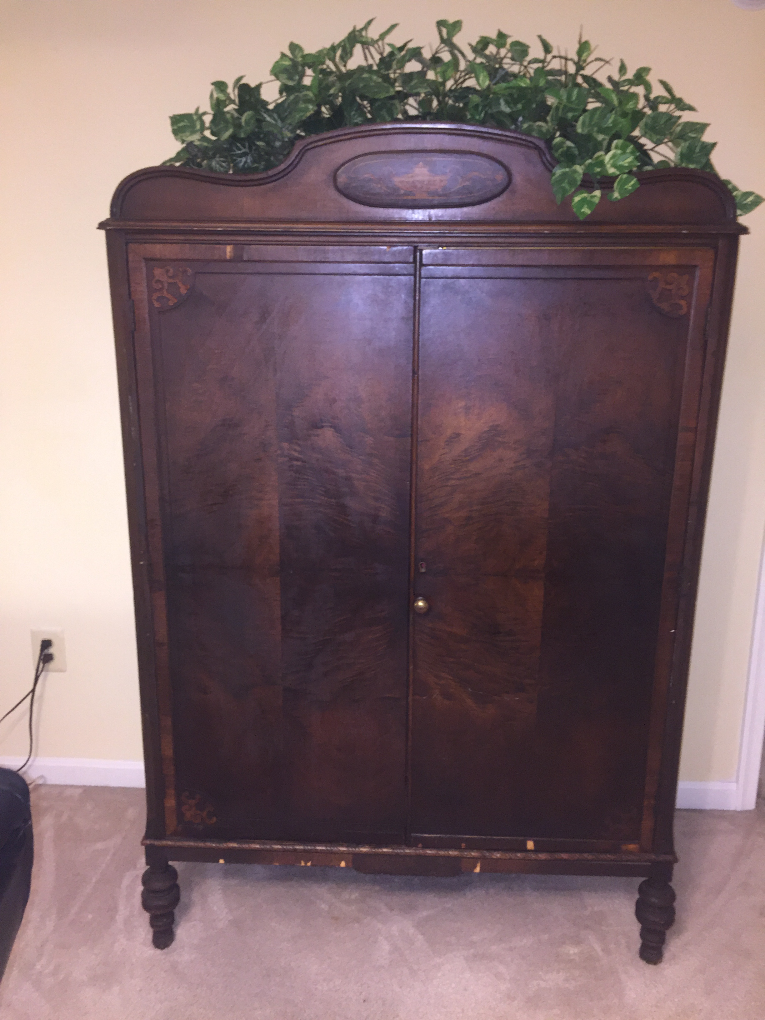 Antique Walnut Armoire   Image 2 Of 10