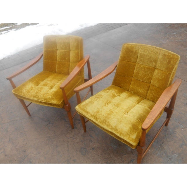 Vintage Mid-Century Danish Modern Lounge Chairs- a Pair For Sale - Image 4 of 10