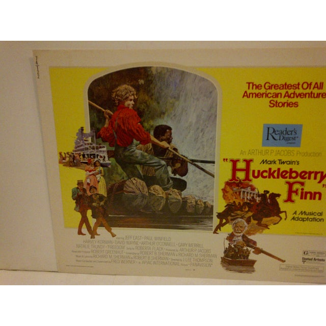 "Vintage Movie Poster ""Huckleberry Finn"" a Musical Adaptation - 1974 - Image 3 of 5"