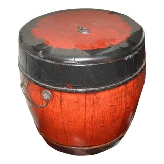 Antique Lidded Bucket For Sale