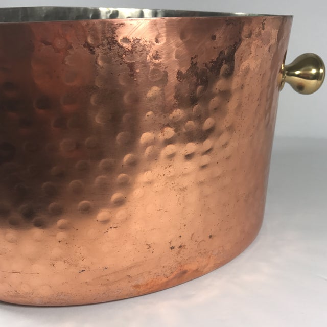 Vintage Copper Double Champagne Bucket For Sale In Austin - Image 6 of 11
