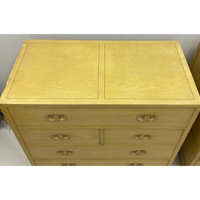 Baker Furniture Company Pair of Asian Modern Michael Taylor for Baker Furniture Chest of Drawers For Sale - Image 4 of 7