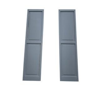 Custom Gray Shaker Style Exterior Shutters - Set of 10 For Sale