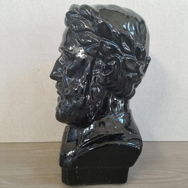 Mid-Century Modern Ingrid Glass Camoes Bust Sculpture For Sale - Image 3 of 10