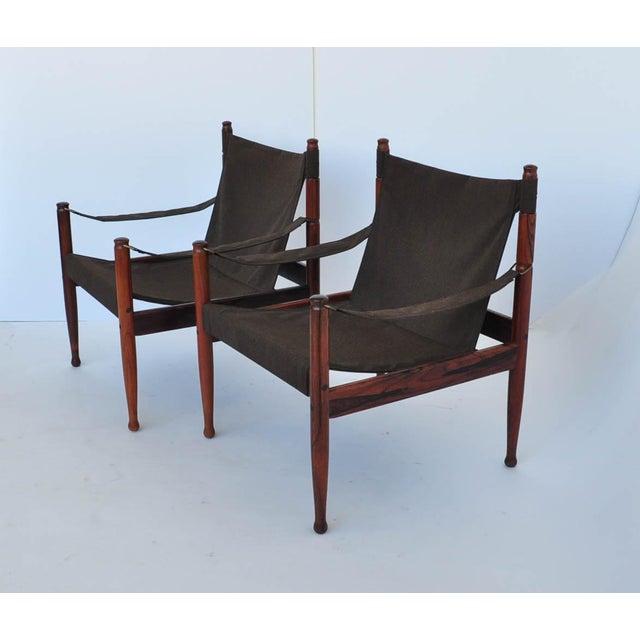 Erik Worts Rosewood Safari Sling Chair - Pair - Image 7 of 10