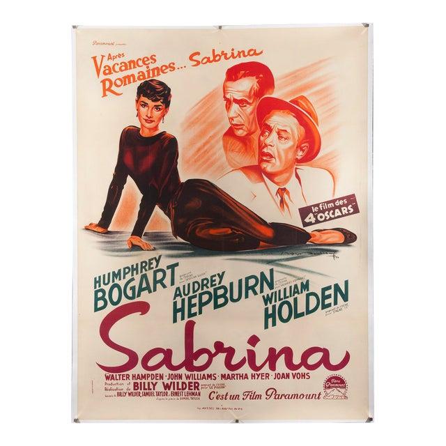 """Vintage Original 1950s French """"Sabrina"""" Audrey Hepburn Poster - Image 1 of 3"""