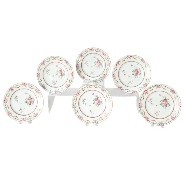Early 19th Century Chinese Porcelain Plates Set of Six For Sale - Image 13 of 13