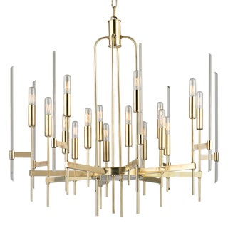 Bari 16 Light Chandelier - Aged Brass For Sale