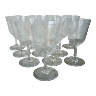 Baccarat Wine Stem Glasses - Set of 11 For Sale