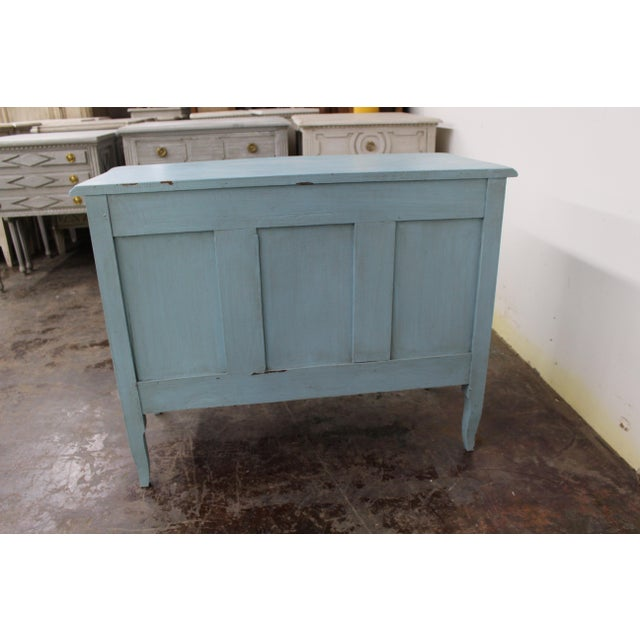 Mid 19th Century 20th Century Vintage Painted Blue Commode For Sale - Image 5 of 9