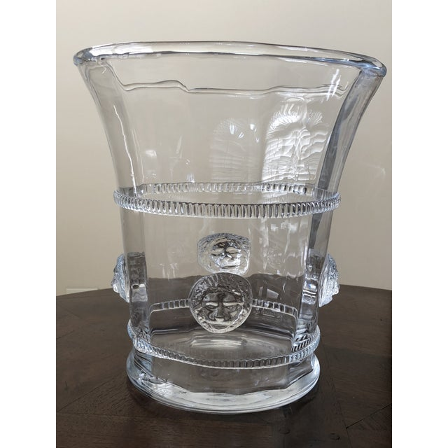Traditional Hand Blown Glass Champagne or Wine Cooler For Sale - Image 3 of 5