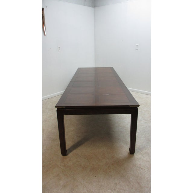 Chippendale Henredon Pan Asian Dining Room Conference Table For Sale - Image 12 of 13