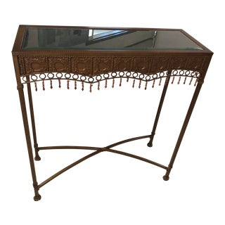 Bombay Co. Bohemian Hammered Bronze Copper Metal Accent Table For Sale