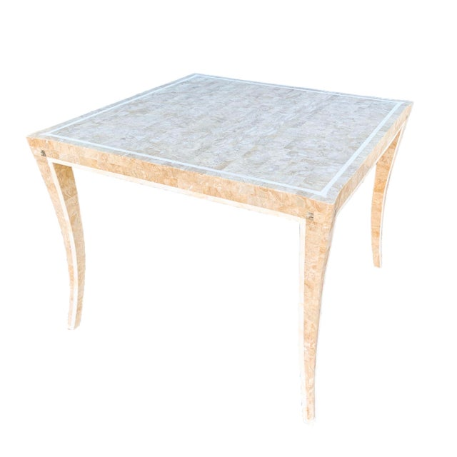 Maitland Smith Gaming Table in Tessellated Marble. America, Circa 1970 For Sale - Image 11 of 11